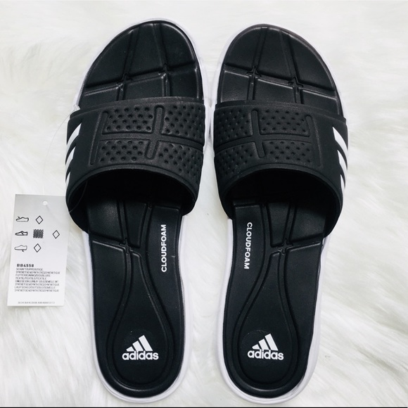 on sale f0881 c1c2b Adidas  Adipure Cloudfoam Slip On Shoes